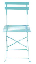 chaise bistrot turquoise