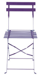 chaise bistrot violette