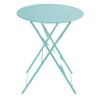 location mobilier pour exposition table turquoise